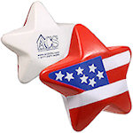 Patriotic Star Stress Balls